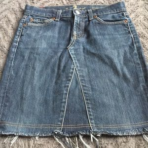 Seven for All Mankind Jean Skirt Roxanne size 26